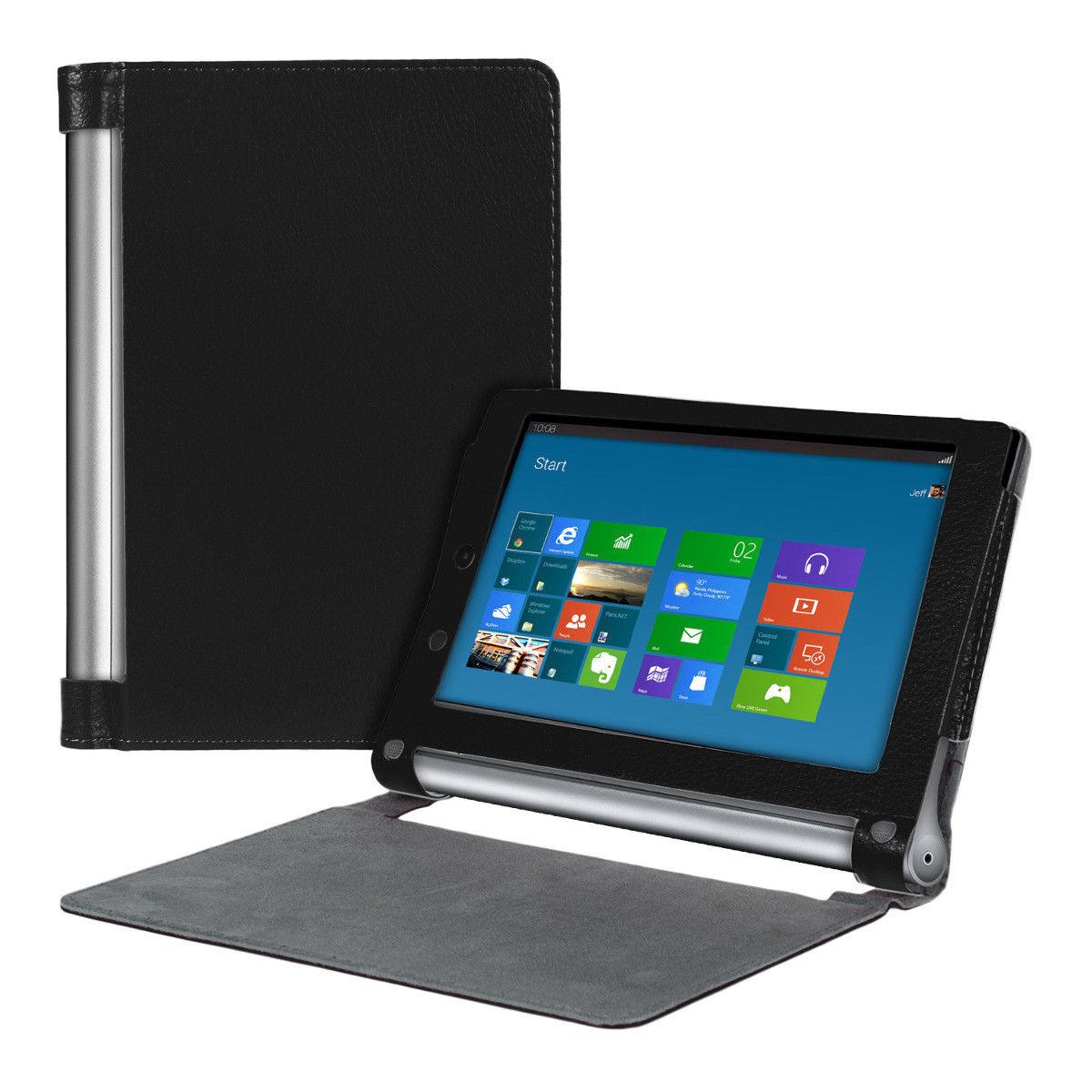 """Lenovo YOGA Tablet 2 8"""" - kožené pouzdro se stojánkem"""