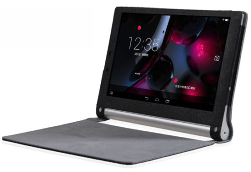 """Lenovo YOGA Tablet 2 10"""" - kožené pouzdro se stojánkem - černé"""