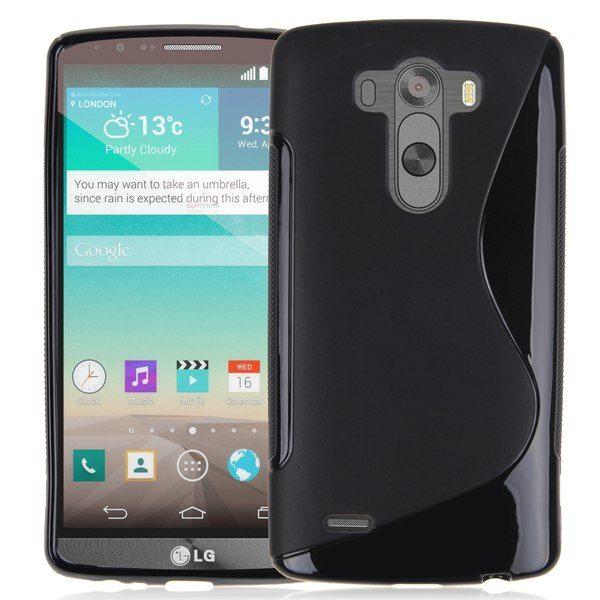 LG G3 - gelové pouzdro (kryt) S-Line - černé