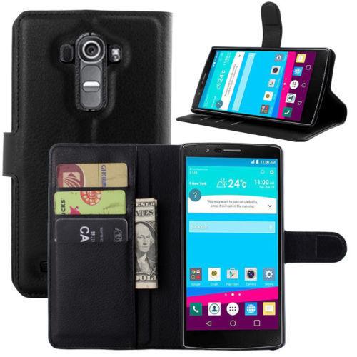 LG G3s / LG G3 MINI - pouzdro (kryt obal) peněženka se stojánkem - černé