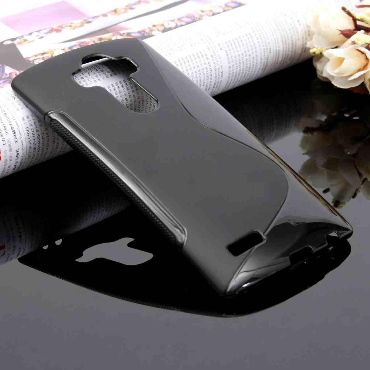 LG G4 - gelové pouzdro (kryt) S-Line - černé