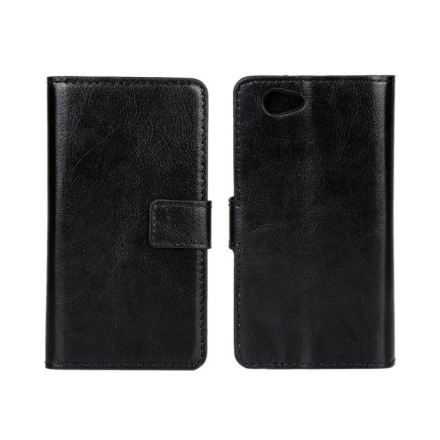 SONY XPERIA Z1 COMPACT - pouzdro (kryt) peněženka se stojánkem - černé