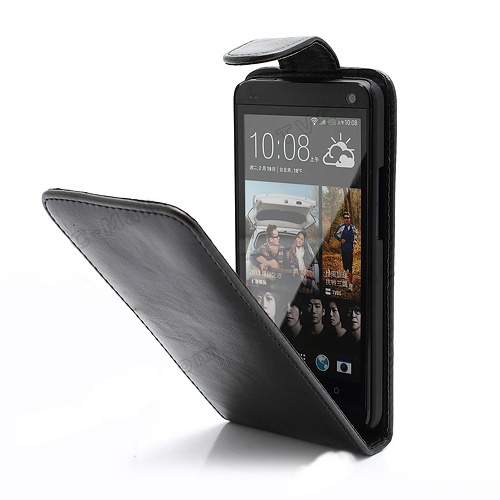 HTC ONE (M7) - pouzdro (kryt) na výšku - černé