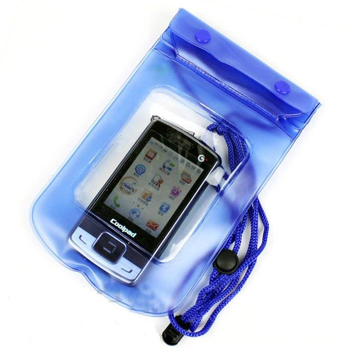 Pouzdro UNIVERZÁLNÍ vodotěsné XXL pro mobil, iPhone, PDA, doklady - modré