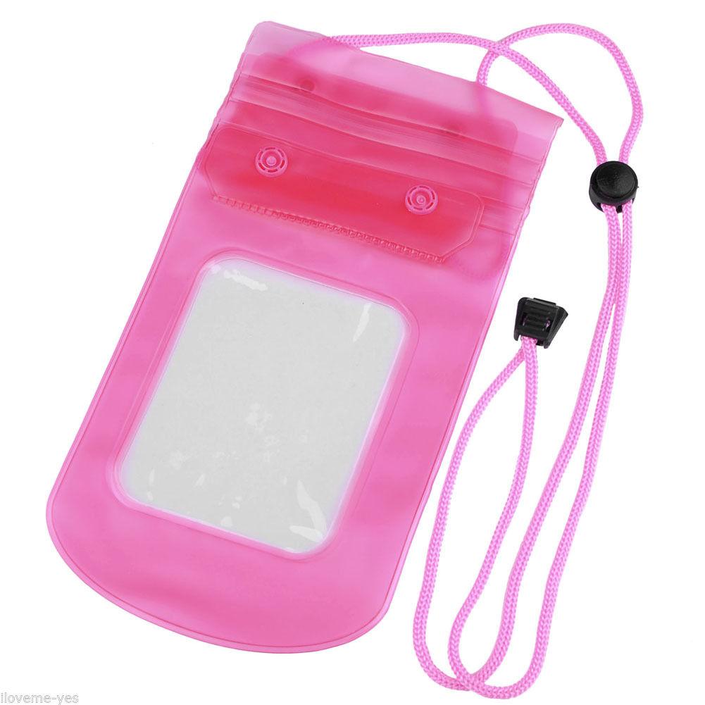 Pouzdro UNIVERZÁLNÍ vodotěsné XXL pro mobil, iPhone, PDA, doklady - růžové