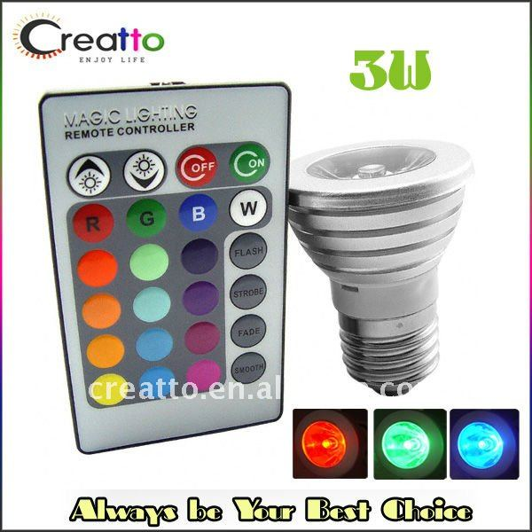 Žárovka E27 LED barevná na dálkové ovládání