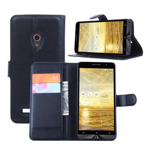 ASUS ZenFone 5 - pouzdro (kryt) peněženka se stojánkem - černé