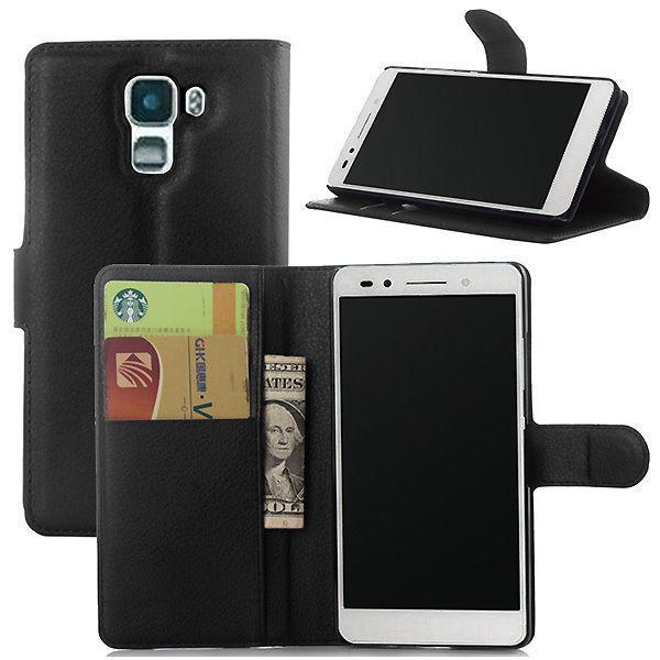 HONOR 7 (Huawei) - pouzdro obal kryt peněženka se stojánkem - černé + FOLIE