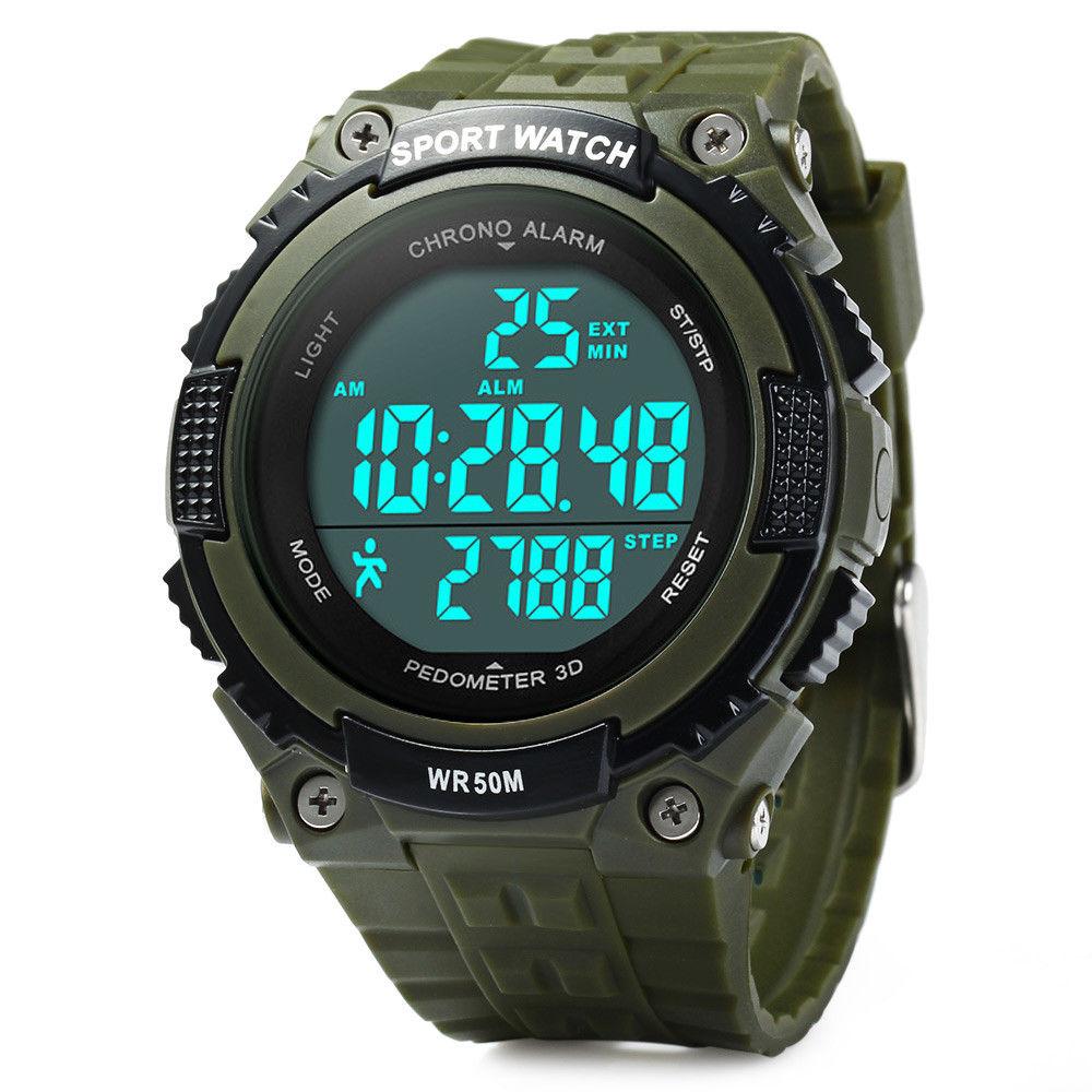 Hodinky SKMEI 1112 ARMY GREEN - pánské sportovní vodotěsné hodinky s  KROKOMĚREM empty bcc4bb1ba3